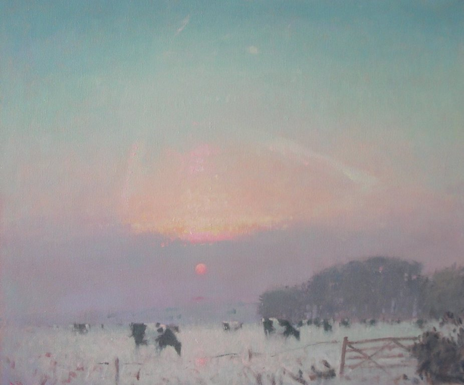 Stephen BROWN RBA - Snowy Sunset