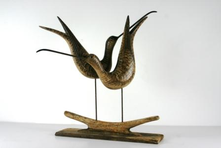 British Artist Stephen HENDERSON - Courting Shorebirds