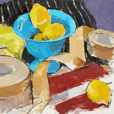 Stephen ROBSON - Lemons and Blue Bowl