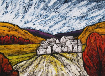Hill Farm painting by artist Steve CAPPER