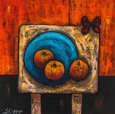 Still Life With Oranges painting by artist Steve CAPPER