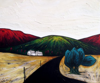 Melon Hill painting by artist Steve CAPPER