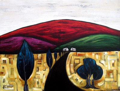 The Red Hill painting by artist Steve CAPPER