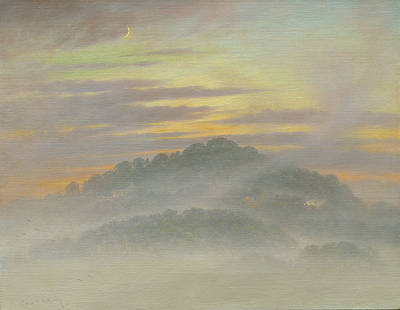British Artist Steven OUTRAM - Drifting into the Night