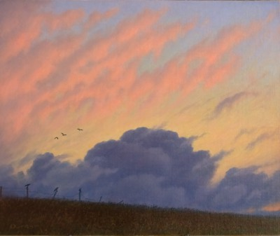 British Artist Steven OUTRAM - The Clouds Retreat