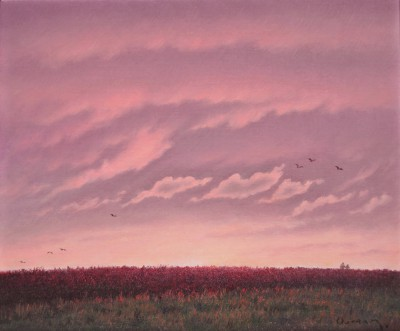 British Artist Steven OUTRAM - Flight Before Night