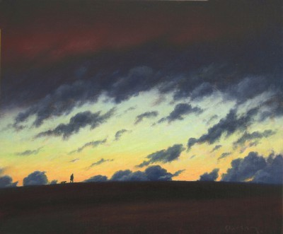 British Artist Steven OUTRAM - The Walk Before Dark