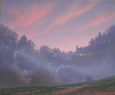 Paths Cross painting by artist Steven OUTRAM