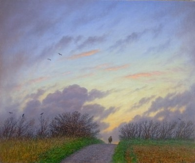 British Artist Steven OUTRAM - Crow Lane
