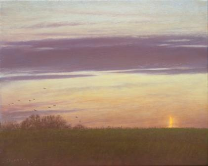 The Night is Near painting by artist Steven OUTRAM
