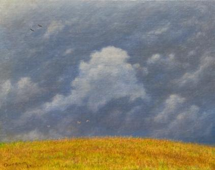 British Artist Steven OUTRAM - With the Wind