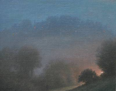 British Artist Steven OUTRAM - Twilight Walk
