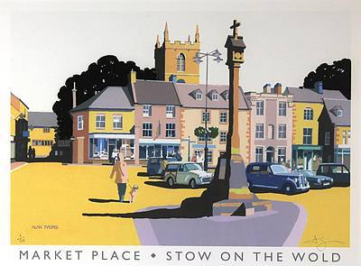 Limited Edition Prints Artist Alan Tyers - Stow on the Wold