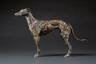 Sculpture and Sculptors Artist Stuart ANDERSON - Standing Greyhound (Edition 7/15)