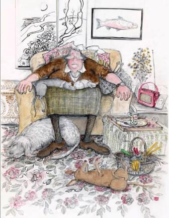 Limited Edition Prints Artist Sue Macartney Snape - Afternoon Snooze