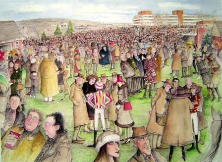Limited Edition Prints Artist Sue Macartney Snape - Cheltenham Festival