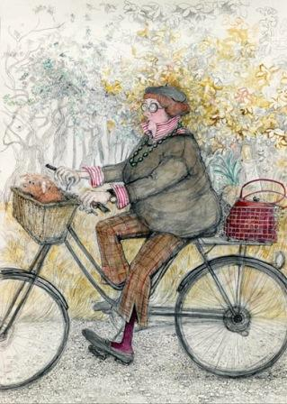 Limited Edition Prints Artist Sue Macartney Snape - Lady Cyclist