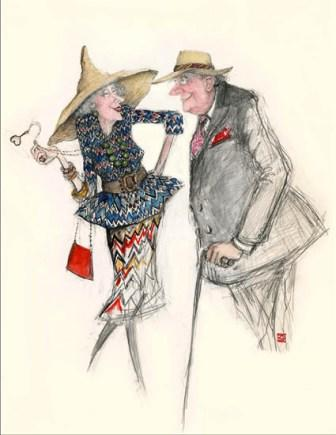 Limited Edition Prints Artist Sue Macartney Snape - Old Flirts