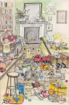Limited Edition Prints Artist Sue Macartney Snape - Toddler in the House