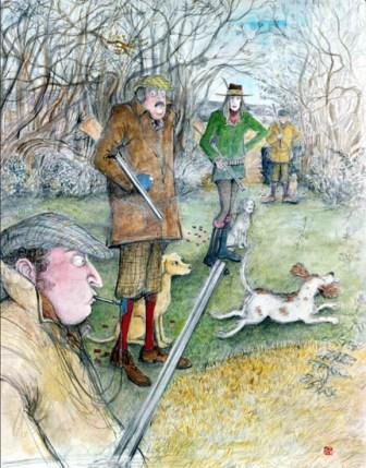 Limited Edition Prints Artist Sue Macartney Snape - Uncontrollable Gundog