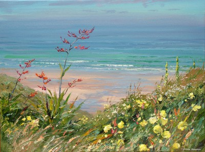 Mark PRESTON - Summer Flowers, Sennen Cove