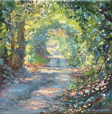 British Artist Mark PRESTON - Sunlit Lane