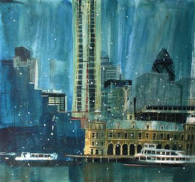 British Artist Susan BROWN - City Blues, London