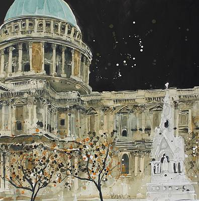 British Artist Susan BROWN - South View, St Paul's London