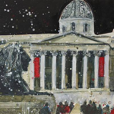 British Artist Susan BROWN - On Guard in the Square, London
