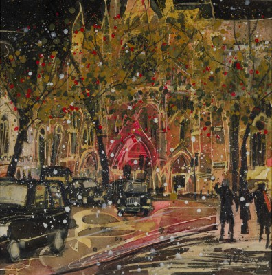 British Artist Susan BROWN - First Snows - Westminster Abbey