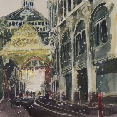 British Artist Susan BROWN - Entrance, Leadenhall Market