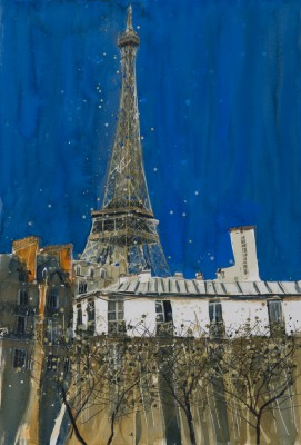 British Artist Susan BROWN - Dominating the Skyline, Tour Eiffel