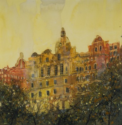 From the Mound, Edinburgh painting by artist Susan BROWN