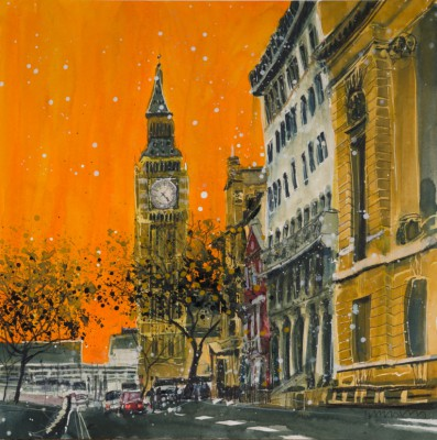 Susan BROWN - Dusk in Great George Street - London