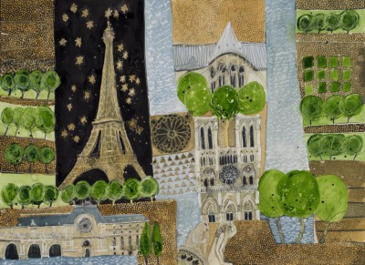British Artist Susan BROWN - Isle de la Cite and beyond - Paris