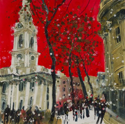 British Artist Susan BROWN - First Snows, St Martins in the Fields