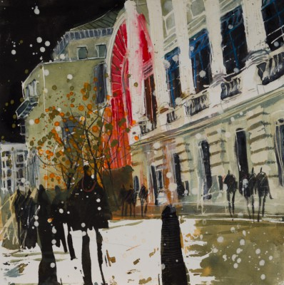 British Artist Susan BROWN - Night Scene, Royal Opera House