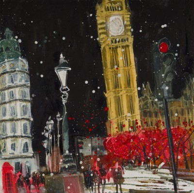British Artist Susan BROWN - Starry Night in December, London
