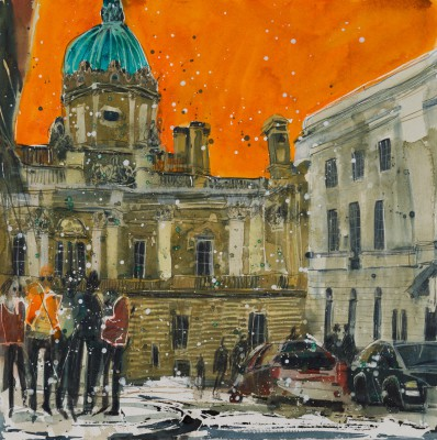 British Artist Susan BROWN - Off the Royal Mile, Edinburgh