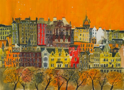 British Artist Susan BROWN - Skyline 1, Edinburgh
