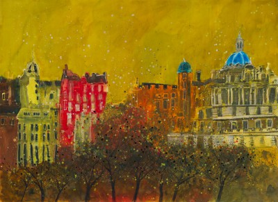 British Artist Susan BROWN - Skyline 2, Edinburgh