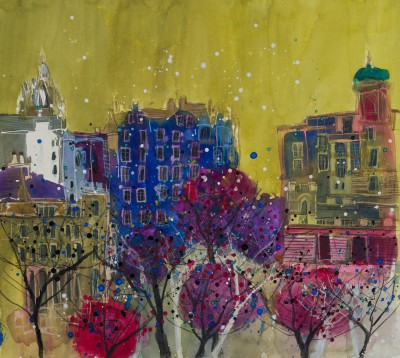 British Artist Susan BROWN - The Ancient Mile from a Distance, Edinburgh
