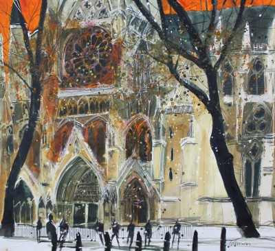 British Artist Susan BROWN - Side Entrance, Westminster Abbey, London