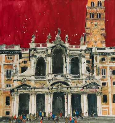 British Artist Susan BROWN - Facade of St Maria Maggiore, Rome