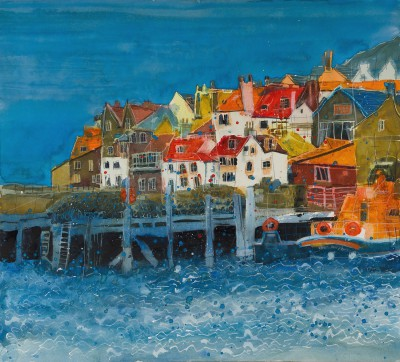 British Artist Susan BROWN - The Harbour, Whitby