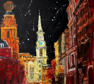 British Artist Susan BROWN - Night Sky, St Martins in the Fields