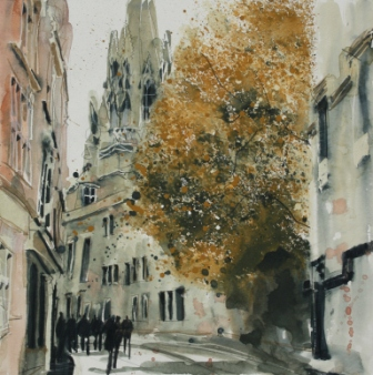 British Artist Susan BROWN - The Church of St Mary the Virgin, Oxford