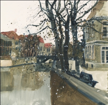 British Artist Susan BROWN - Still Waters, Bruges
