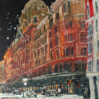 British Artist Susan BROWN - Harrods, London