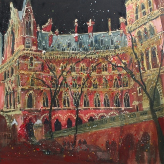 Dusk, St Pancras, London painting by artist Susan BROWN